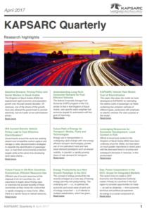 KAPSARC Quarterly: Issue 4