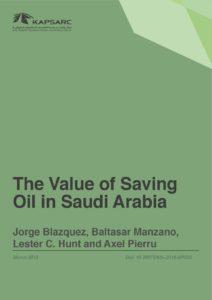 The Value of Saving Oil in Saudi Arabia