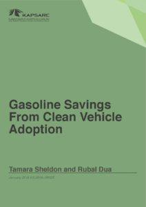 Gasoline Savings From Clean Vehicle Adoption