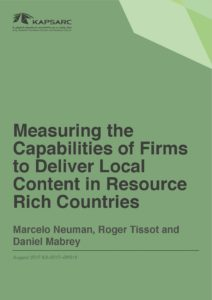 Measuring the Capabilities of Firms to Deliver Local Content in Resource Rich Countries