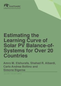 Estimating the Learning Curve of Solar PV Balance-of-Systems for Over 20 Countries