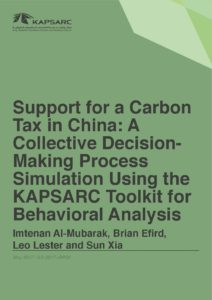 Support for a Carbon Tax in China: A Collective Decision-Making Process Simulation Using the KAPSARC Toolkit for Behavioral Analysis