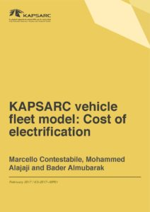 KAPSARC vehicle fleet model: Cost of electrification