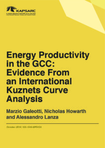 Energy Productivity in the GCC: Evidence From an International Kuznets Curve Analysis