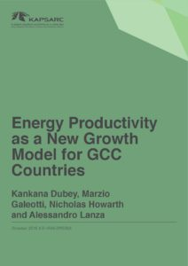 Energy Productivity as a New Growth Model for GCC Countries