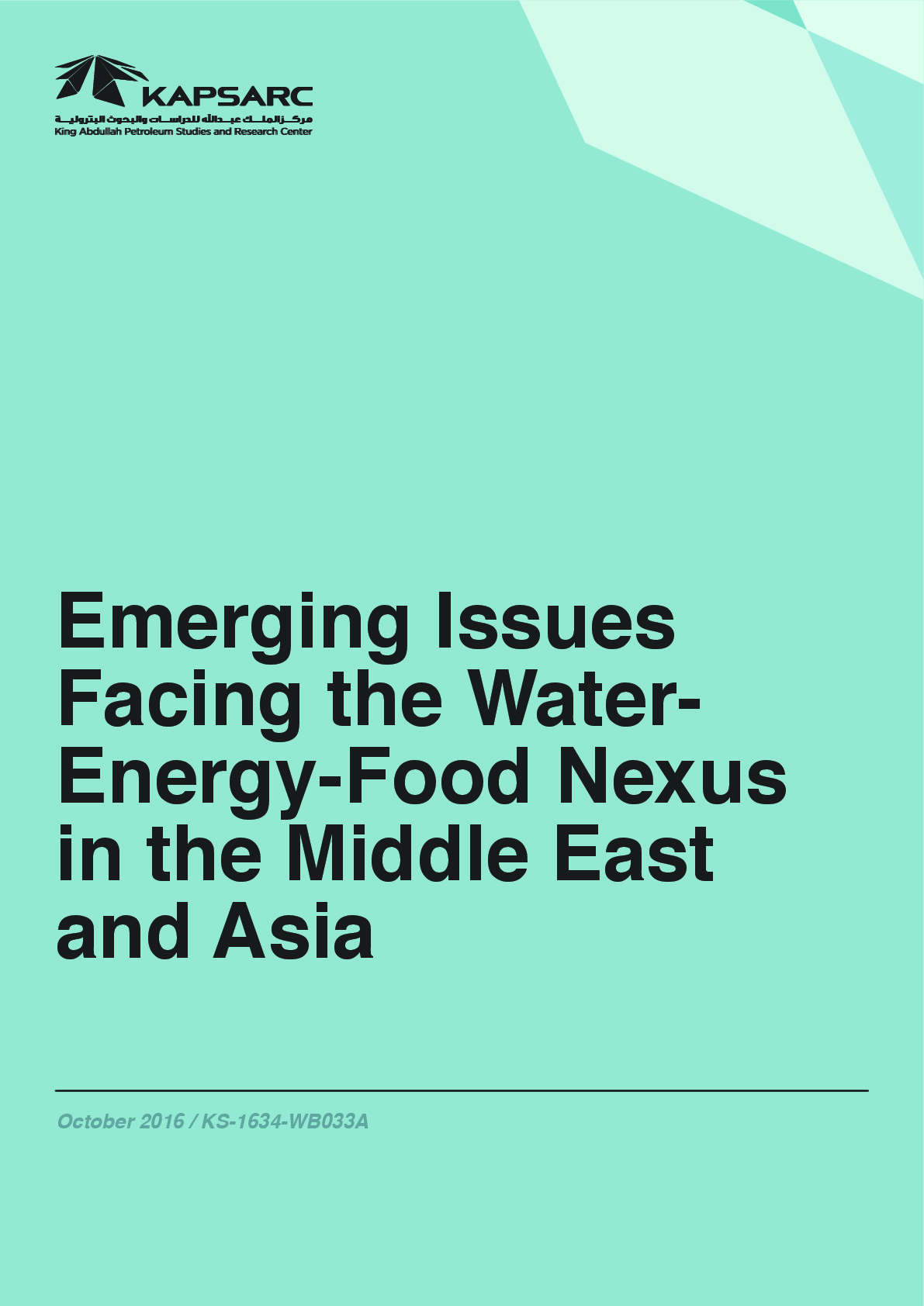 Emerging Issues Facing the Water-Energy-Food Nexus in the Middle East and Asia