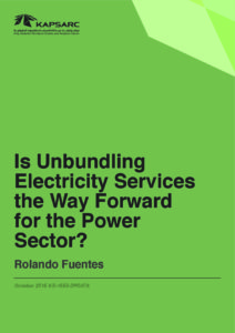 Is Unbundling Electricity Services the Way Forward for the Power Sector?