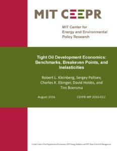 Tight Oil Development Economics: Benchmarks, Breakeven Points, and Inelasticities