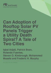Can Adoption of Rooftop Solar PV Panels Trigger a Utility Death Spiral?
