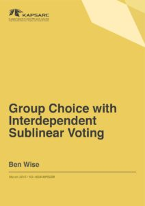 Group Choice with Interdependent Sublinear Voting