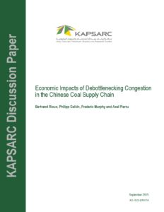 Economic Impacts of Debottlenecking Congestion in the Chinese Coal Supply Chain