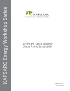 Beyond the 'Green Economy': China's Path to Sustainability
