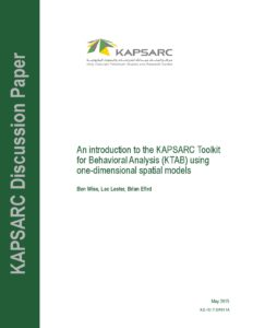 An Introduction to the KAPSARC Toolkit for Behavioral Analysis (KTAB)