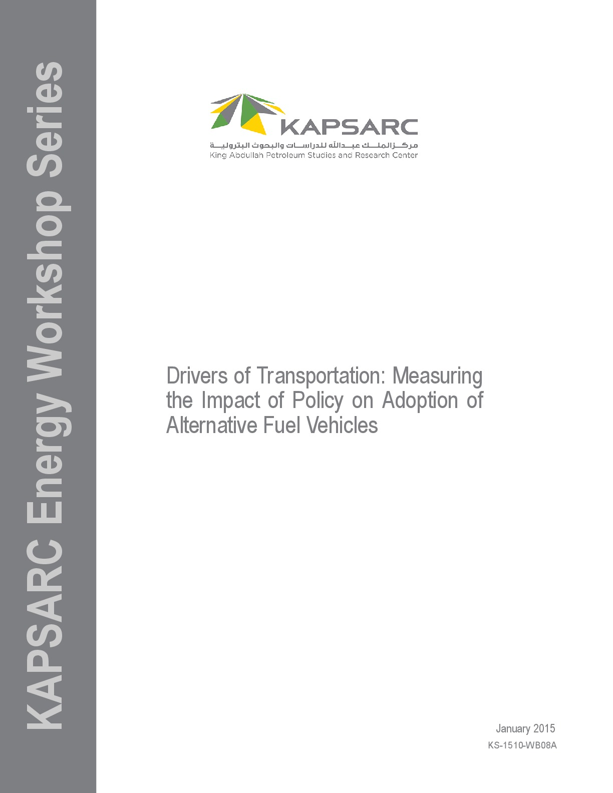 Drivers of Transportation: Measuring the Impact of Policy on Adoption of Alternative Fuel Vehicles