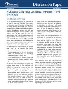 Changing Competitive Landscape: Transition Policy's Blind Spots