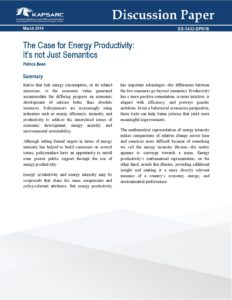 The Case for Energy Productivity: It's Not Just Semantics