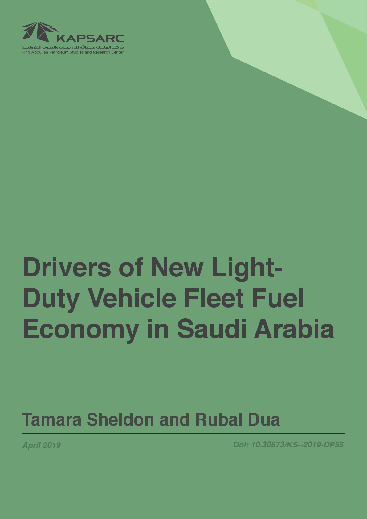 Drivers of New Light-Duty Vehicle Fleet Fuel Economy in Saudi Arabia