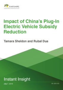Impact of China's Plug-In Electric Vehicle Subsidy Reduction