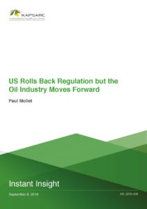 US Rolls Back Regulation but the Oil Industry Moves Forward