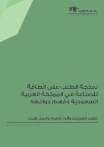 نمذجة الطلب على الطاقة للصناعة في المملكة العربية السعودية وفهم دوافعه