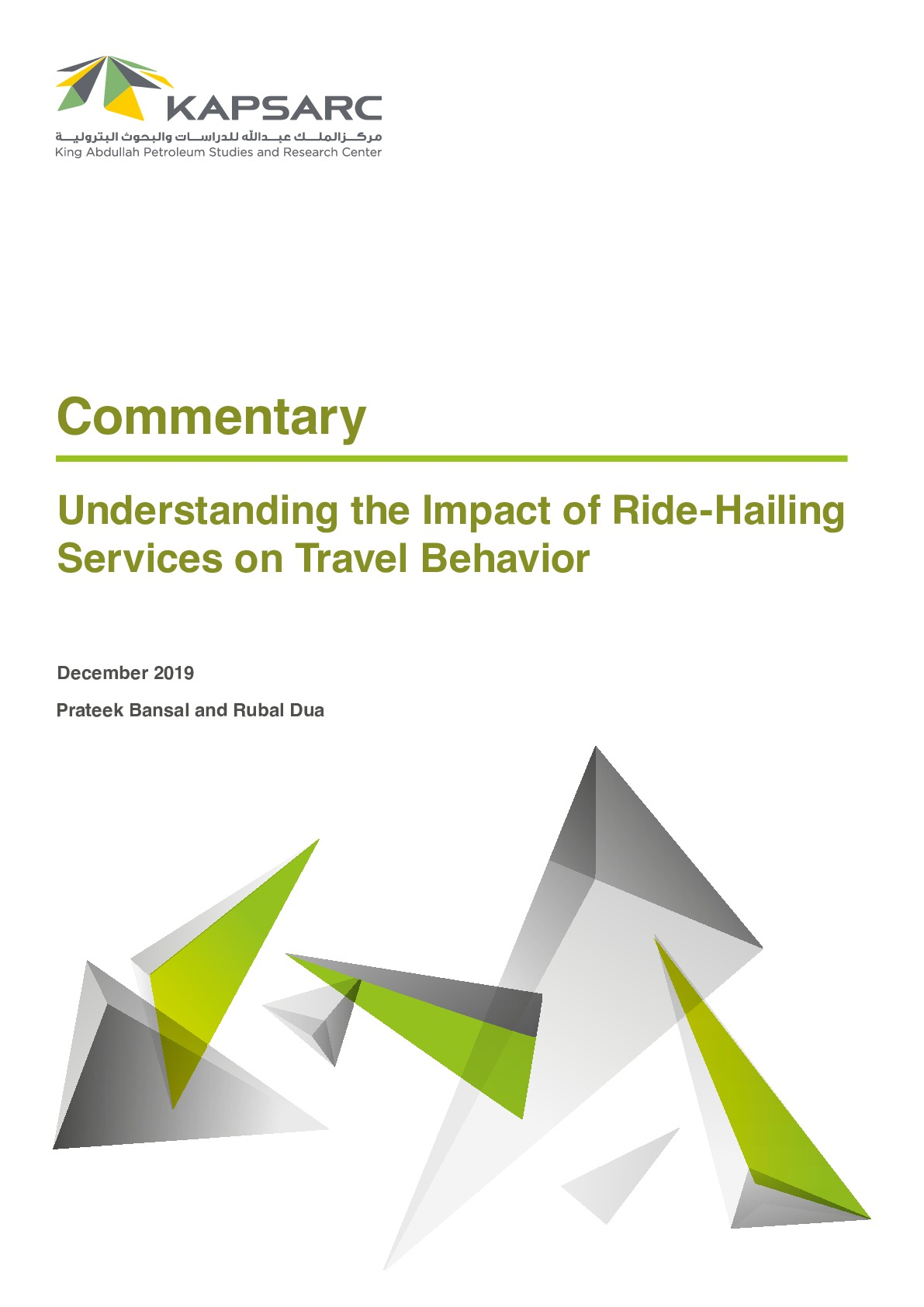 Understanding the Impact of Ride-Hailing Services on Travel Behavior