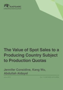 The Value of Spot Sales to a Producing Country Subject to Production Quotas