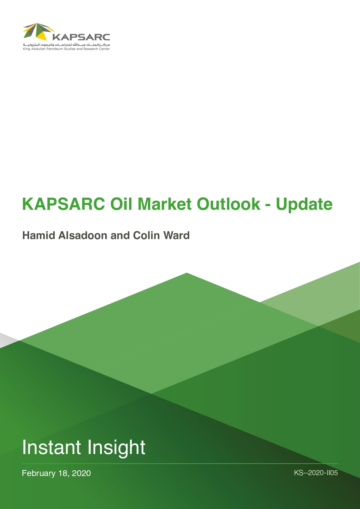 KAPSARC Oil Market Outlook – Update