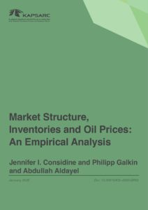 Market Structure, Inventories and Oil Prices: An Empirical Analysis