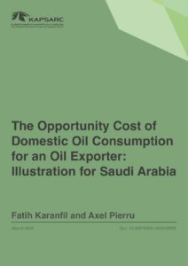 The Opportunity Cost of Domestic Oil Consumption for an Oil Exporter: Illustration for Saudi Arabia