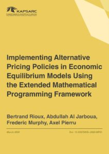 Implementing Alternative Pricing Policies in Economic Equilibrium Models Using the Extended Mathematical…