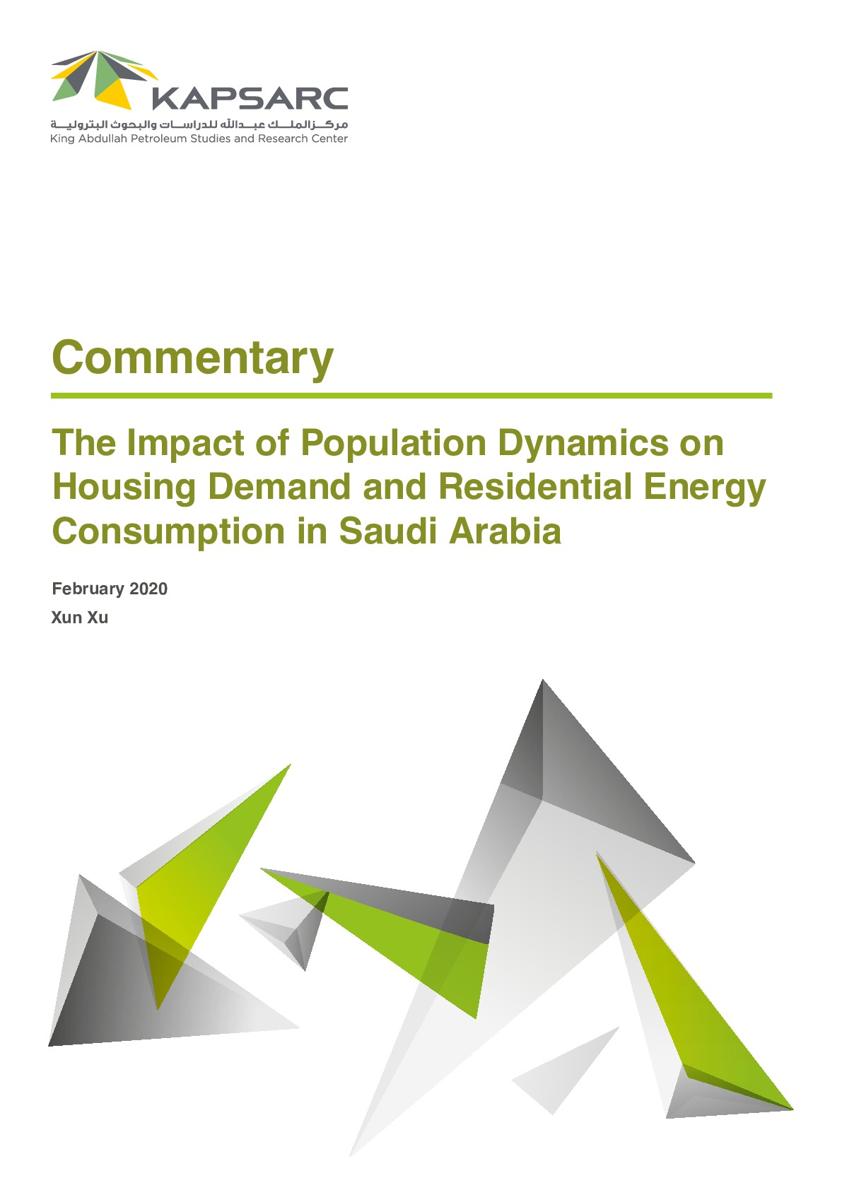 The Impact of Population Dynamics on Housing Demand and Residential Energy Consumption in Saudi Arabia