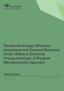 Residential Energy Efficiency Investment and Demand Response Under Different Electricity Pricing Schemes:…