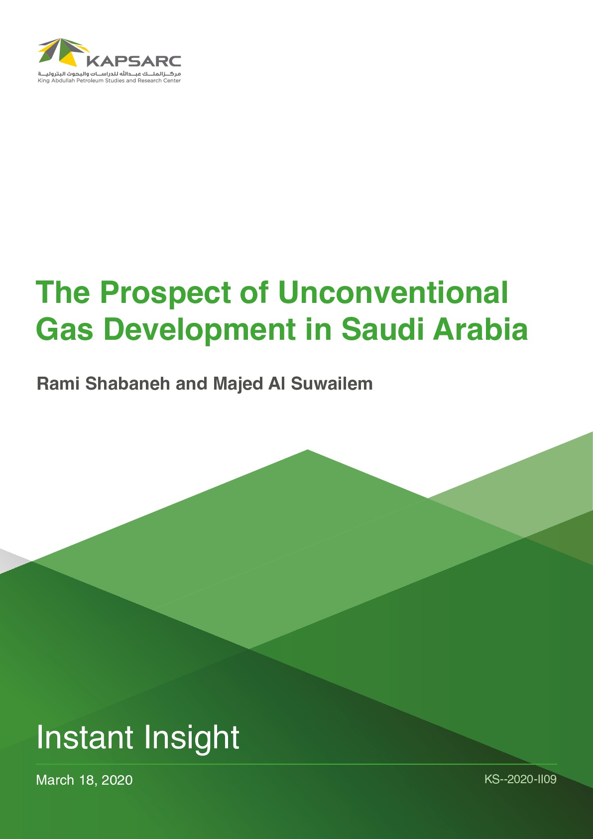 The Prospect of Unconventional Gas Development in Saudi Arabia