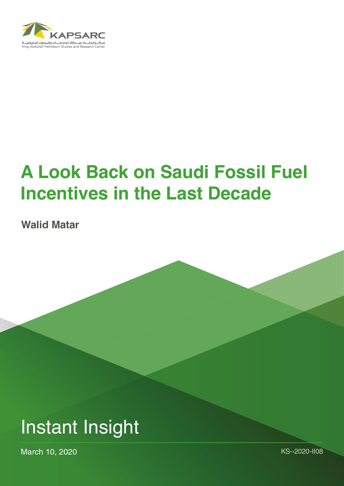A Look Back on Saudi Fossil Fuel Incentives in the Last Decade