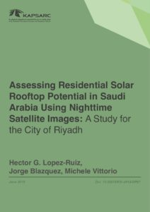 Assessing Residential Solar Rooftop Potential in Saudi Arabia Using Nighttime Satellite Images: A Study for the City of Riyadh