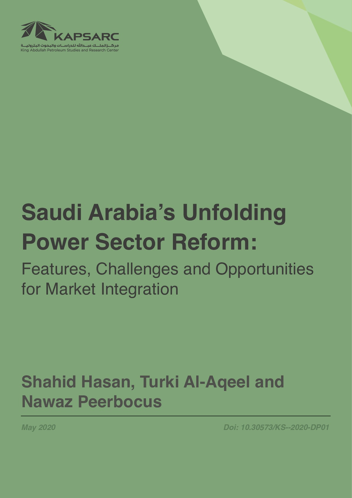 Saudi Arabia's Unfolding Power Sector Reform: Features, Challenges and Opportunities for Market Integration