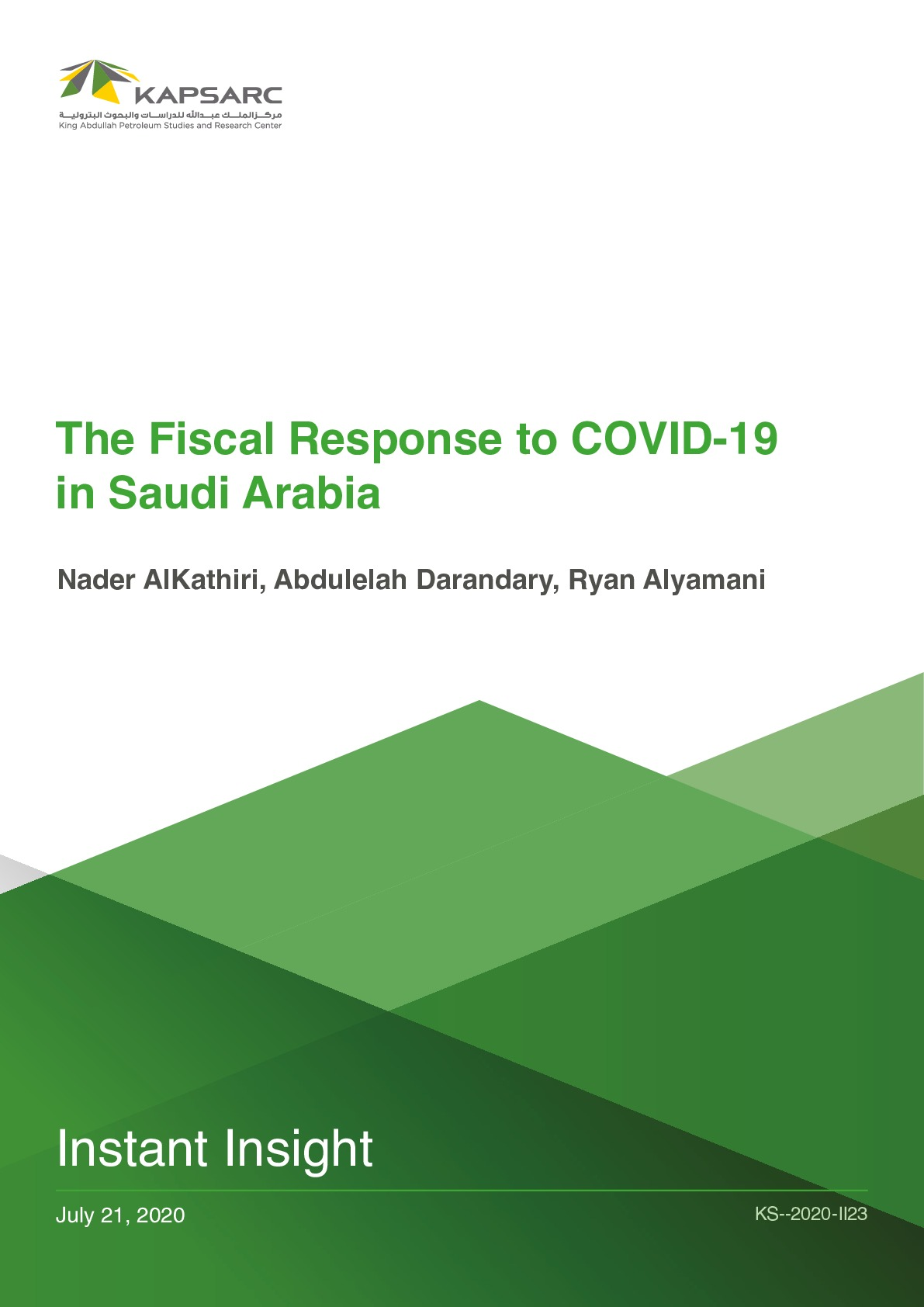 The Fiscal Response to COVID-19 in Saudi Arabia