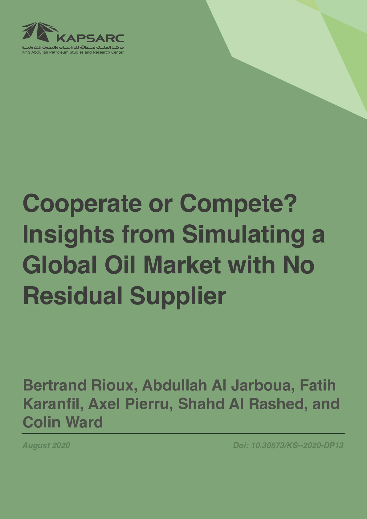 Cooperate or Compete? Insights from Simulating a Global Oil Market with No Residual Supplier