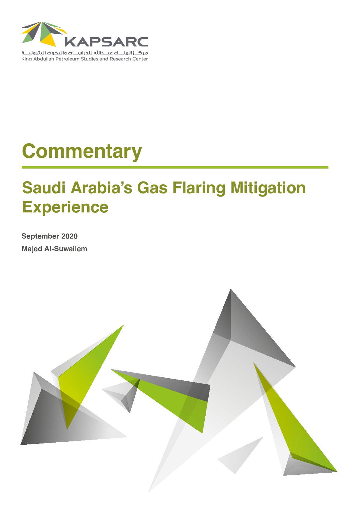 Saudi Arabia's Gas Flaring Mitigation Experience