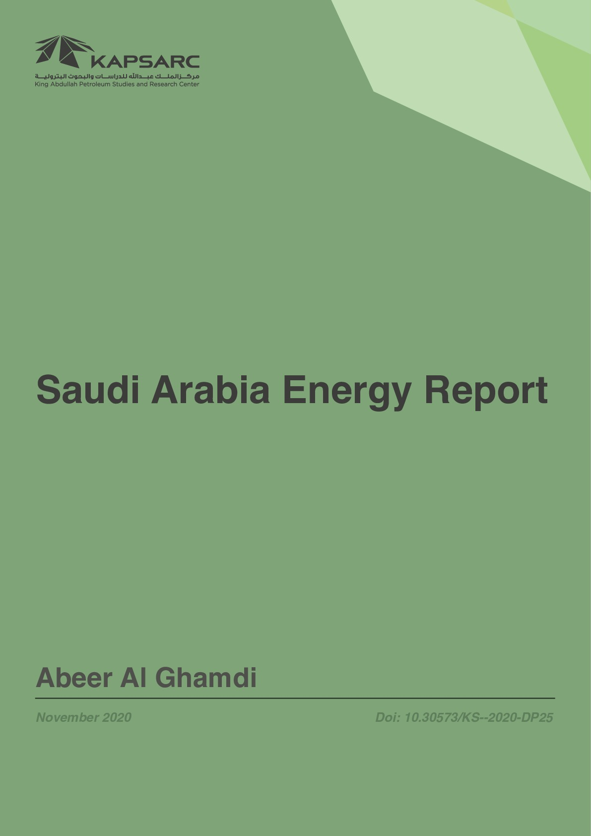 Saudi Arabia Energy Report