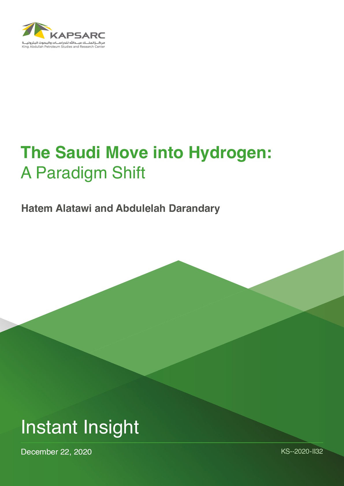 The Saudi Move into Hydrogen: A Paradigm Shift