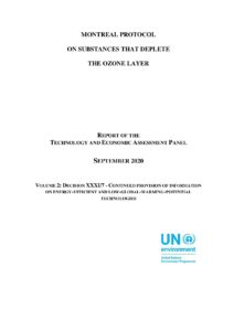 Montreal Protocol on Substances that Deplete the Ozone Layer, Report of the TEAP, Volume 2 Decision XXXI/7 – Continued Provision of Information on Energy-Efficient and Low Global Warming Potential Technologies