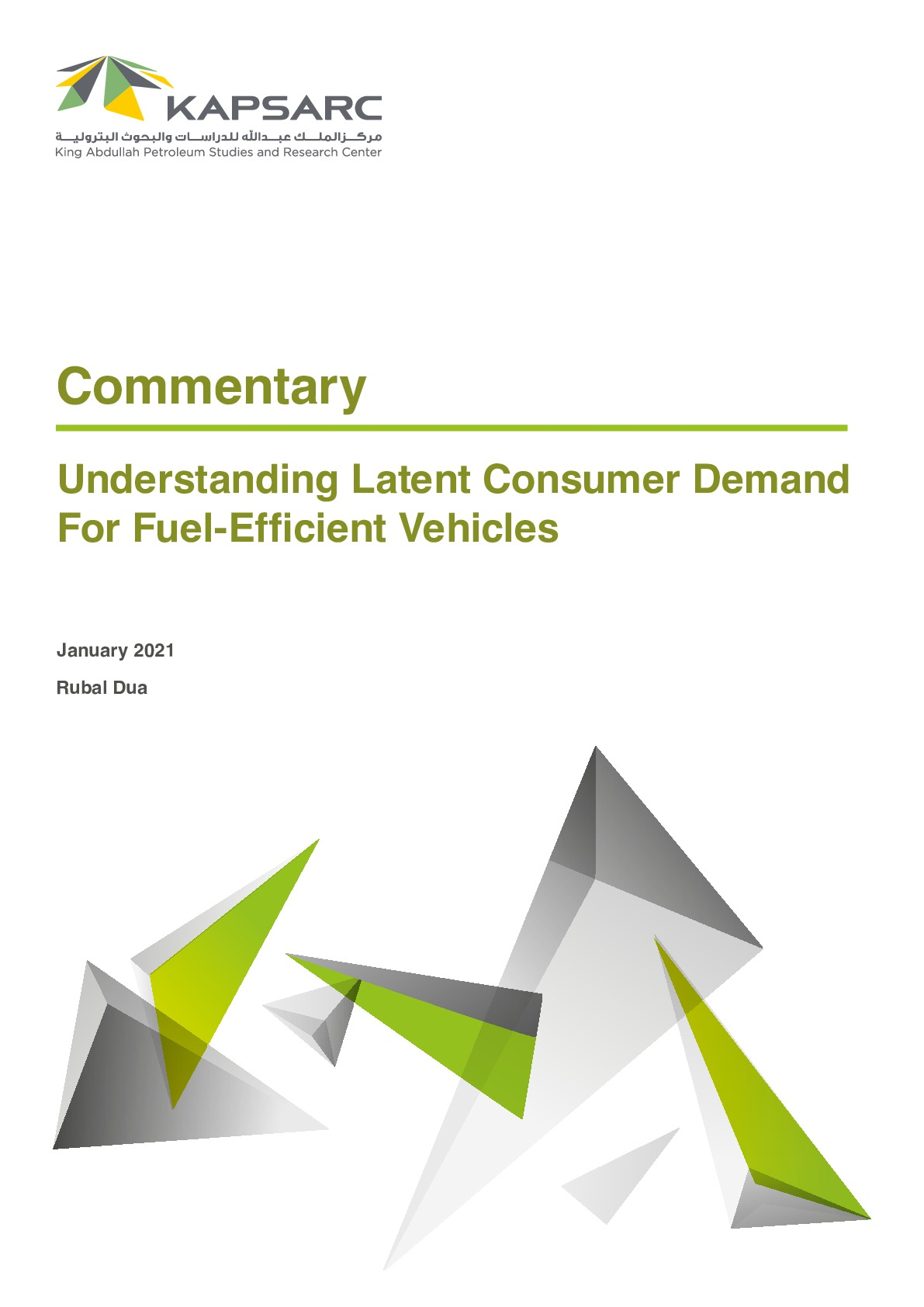 Understanding Latent Consumer Demand For Fuel-Efficient Vehicles