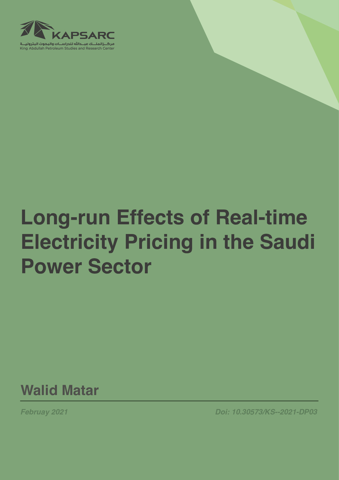 Long-run Effects of Real-time Electricity Pricing in the Saudi Power Sector