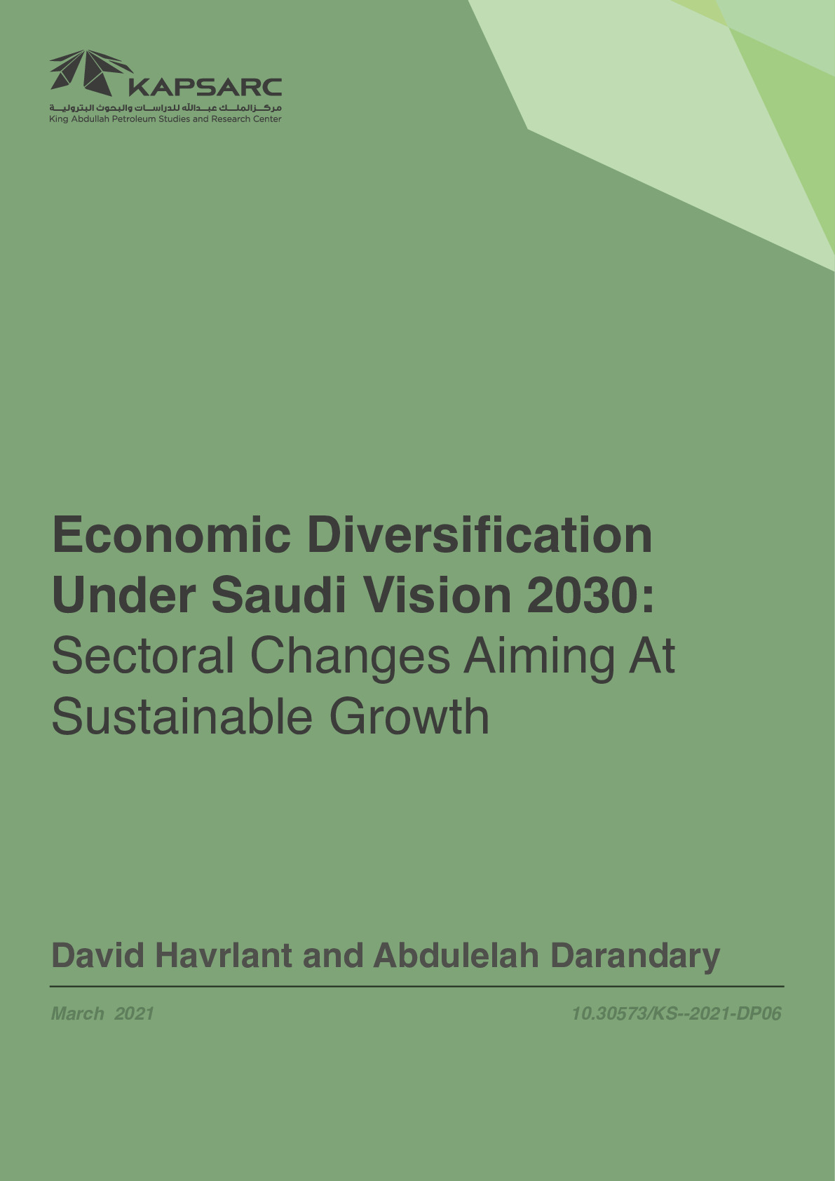 Economic Diversification Under Saudi Vision 2030