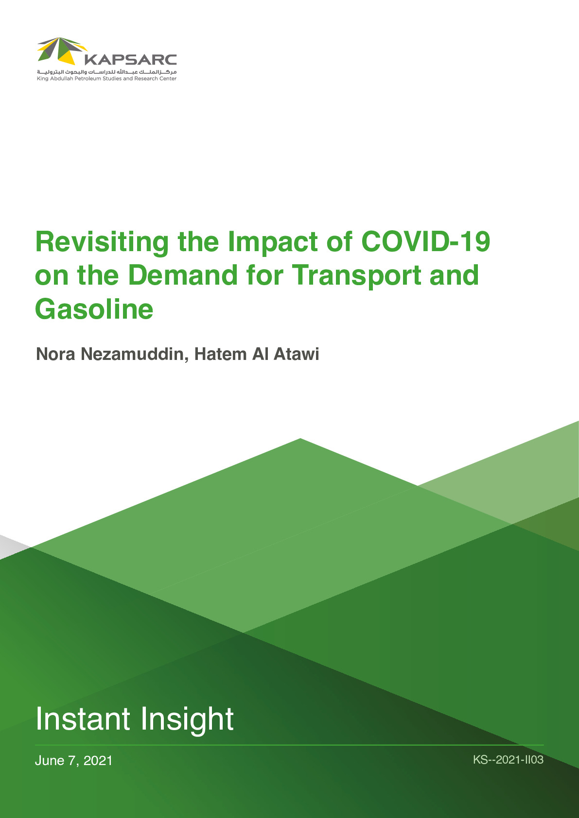 Revisiting the Impact of COVID-19 on the Demand for Transport and Gasoline