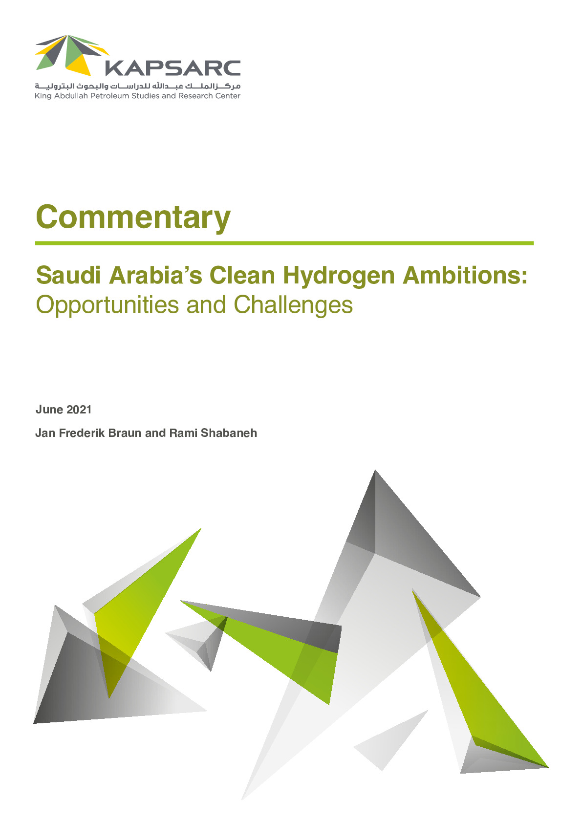 Saudi Arabia's Clean Hydrogen Ambitions: Opportunities and Challenges