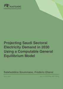 Projecting Saudi Sectoral Electricity Demand in 2030 Using a Computable General Equilibrium Model