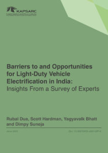 Barriers to and Opportunities for Light-Duty Vehicle Electrification in India: Insights From a Survey of Experts